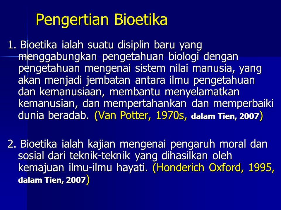 Pengertian Bioetika
