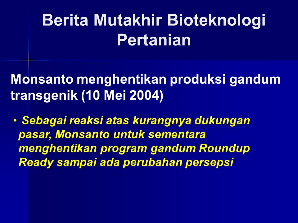 Berita Mutakhir Bioteknologi Pertanian