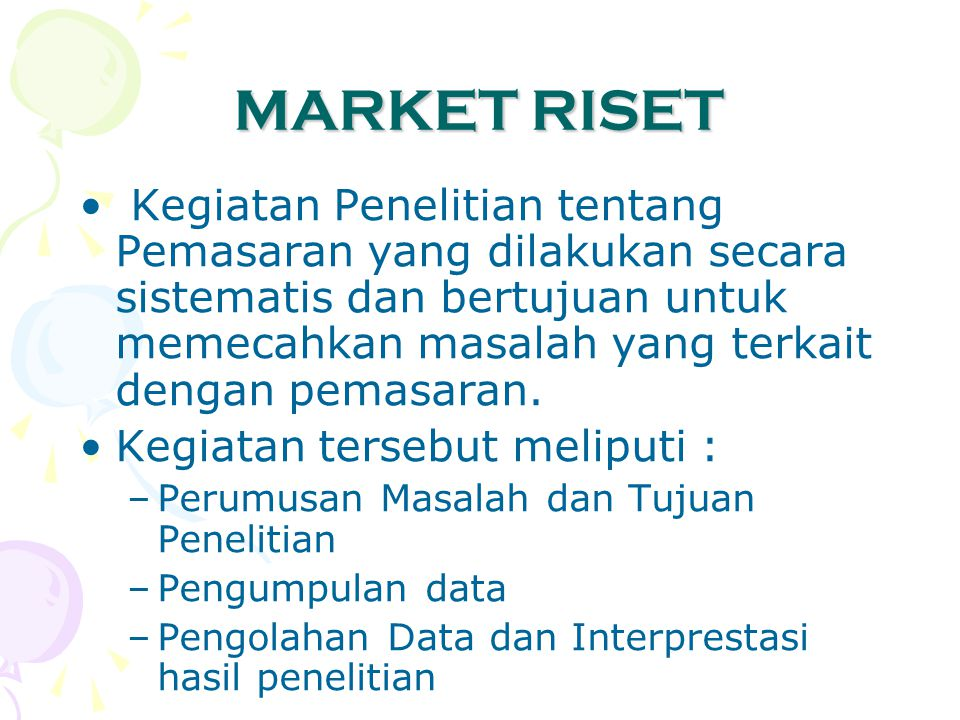 MARKET RISET