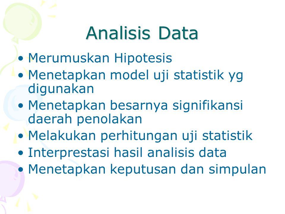 Analisis Data Merumuskan Hipotesis