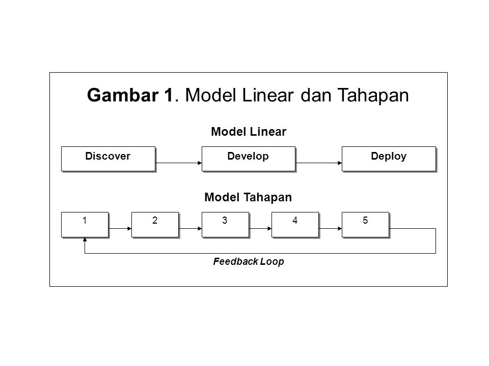 Gambar 1. Model Linear dan Tahapan