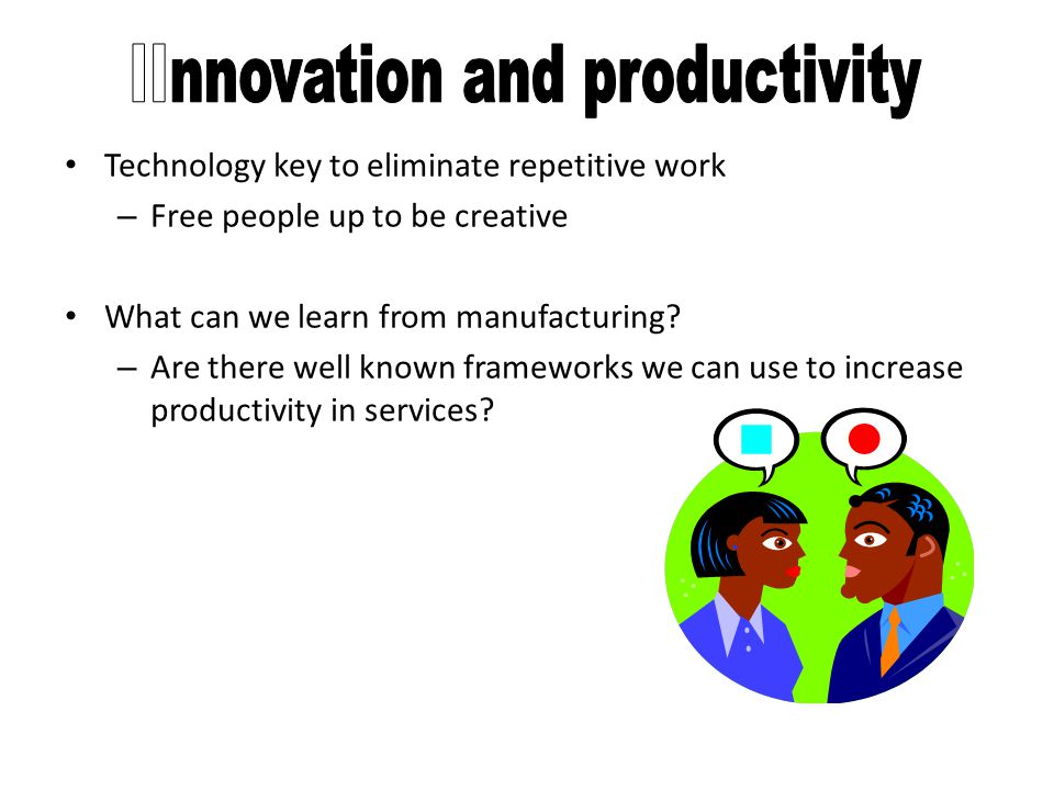 IInnovation and productivity