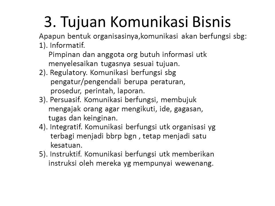 3. Tujuan Komunikasi Bisnis