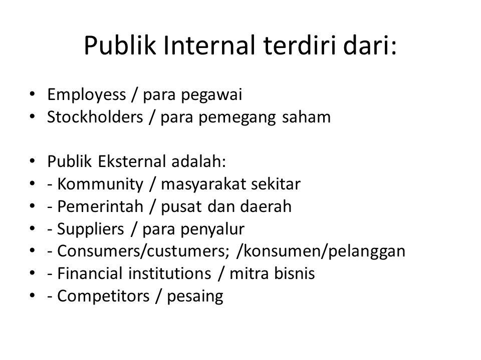 Publik Internal terdiri dari: