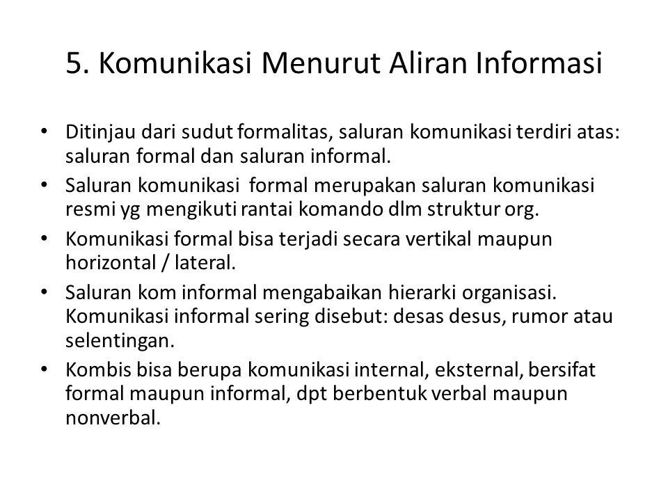 5. Komunikasi Menurut Aliran Informasi