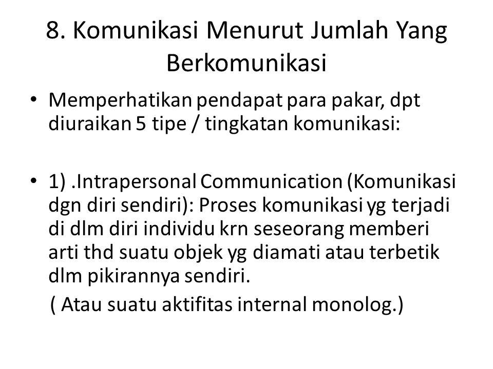 8. Komunikasi Menurut Jumlah Yang Berkomunikasi