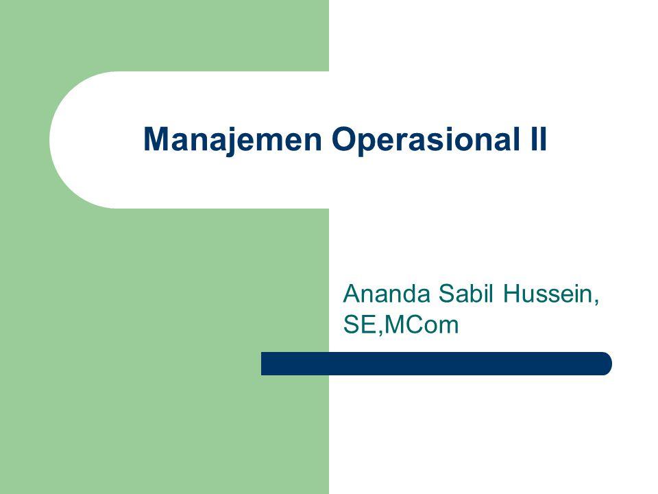 Manajemen Operasional II