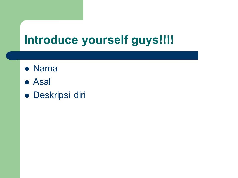 Introduce yourself guys!!!!