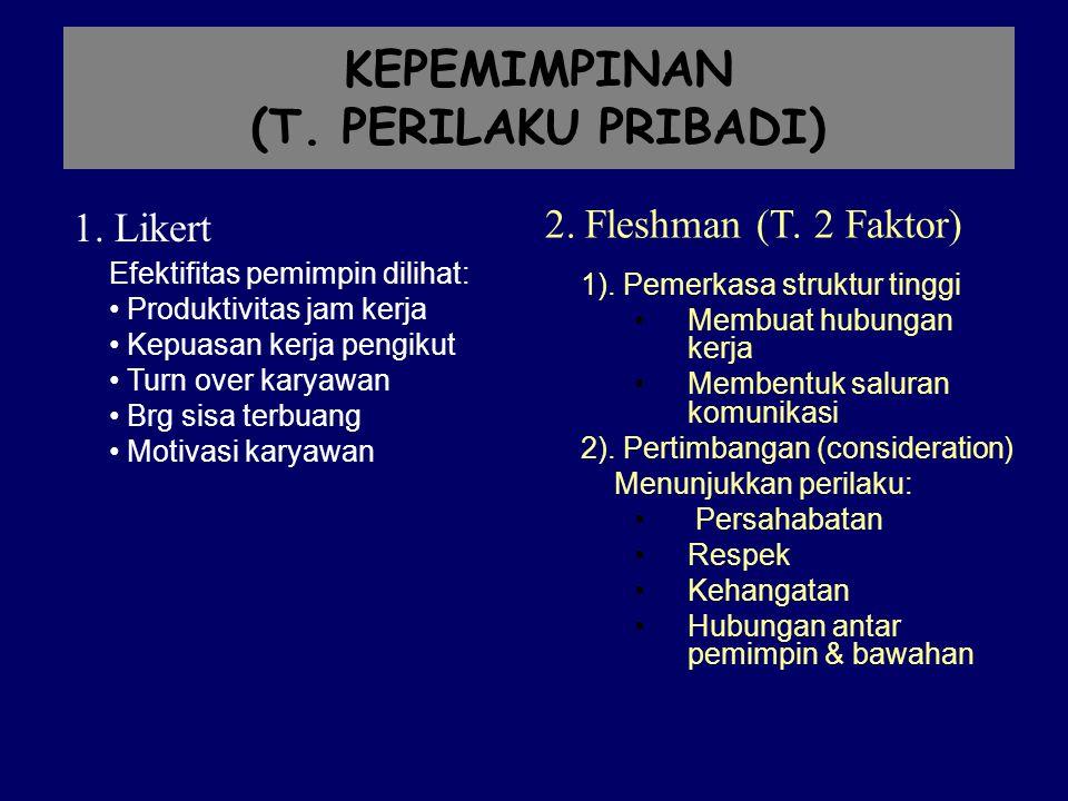KEPEMIMPINAN (T. PERILAKU PRIBADI)