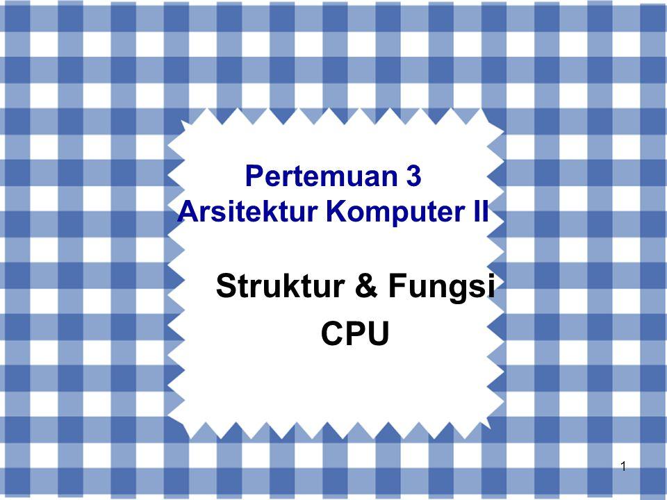 Pertemuan 3 Arsitektur Komputer II