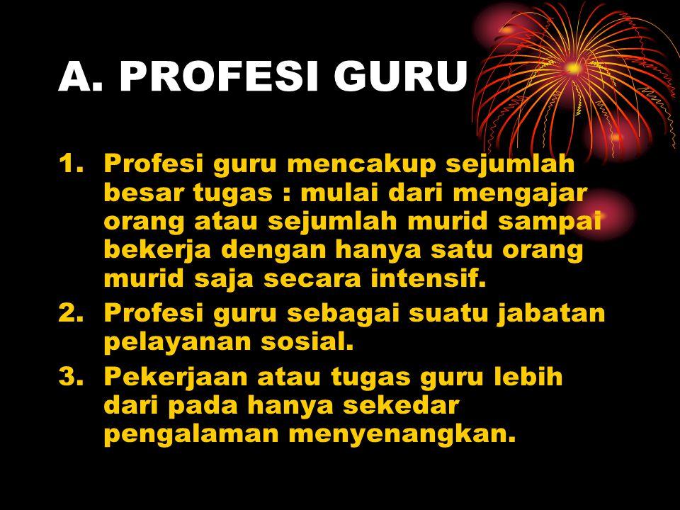 A. PROFESI GURU
