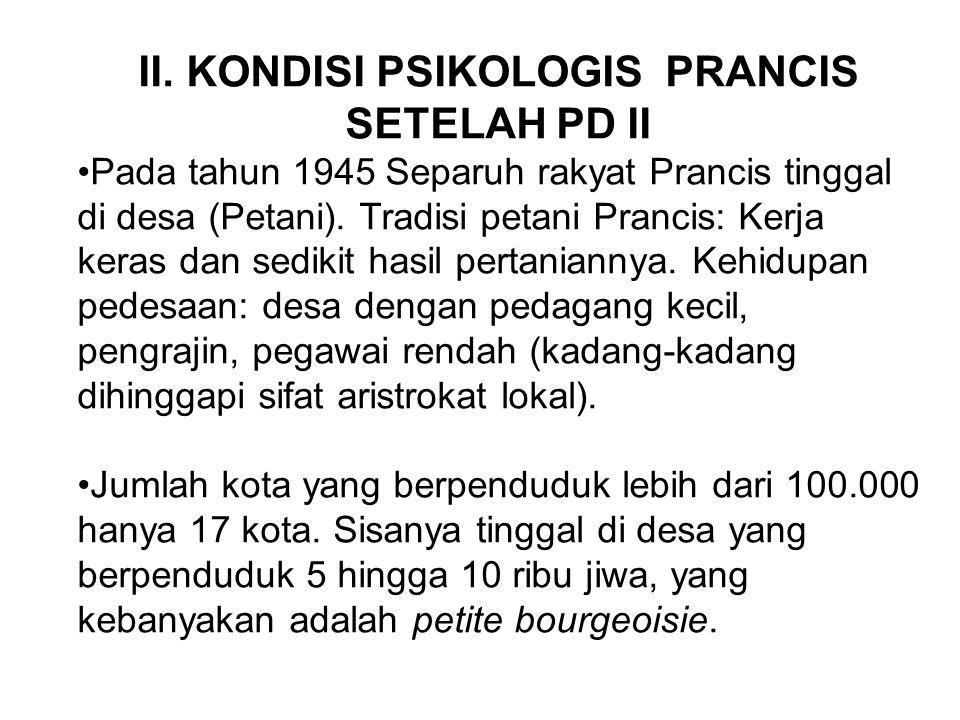 II. KONDISI PSIKOLOGIS PRANCIS SETELAH PD II