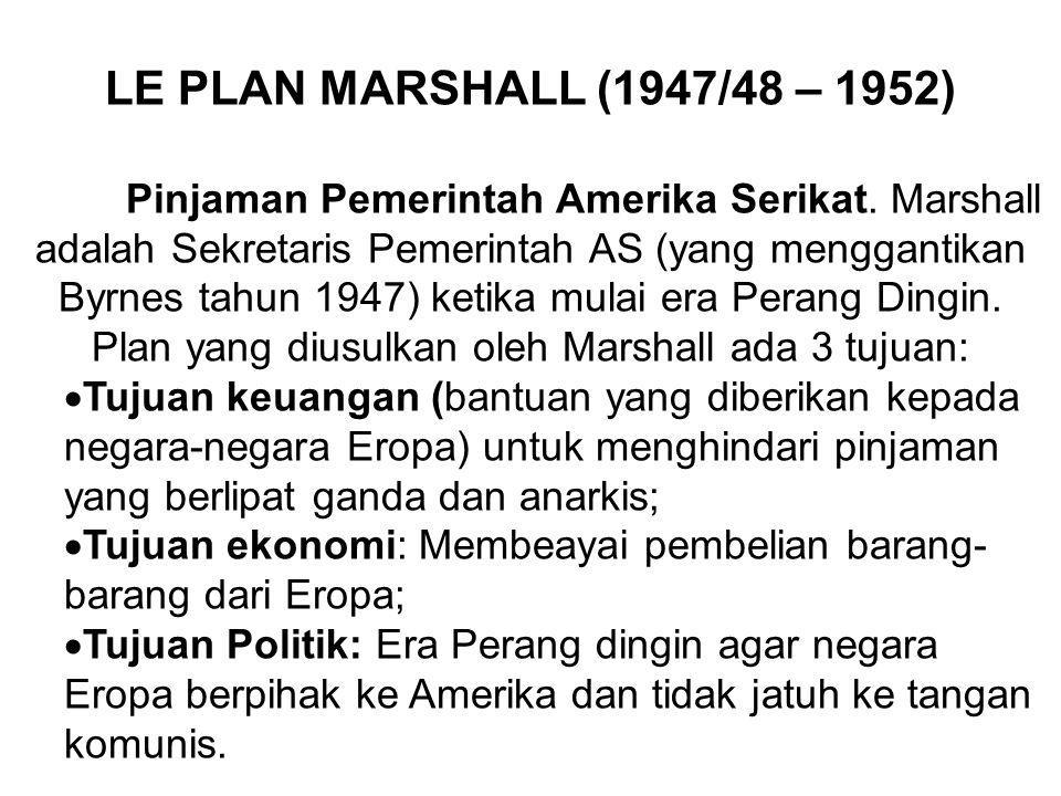 LE PLAN MARSHALL (1947/48 – 1952)