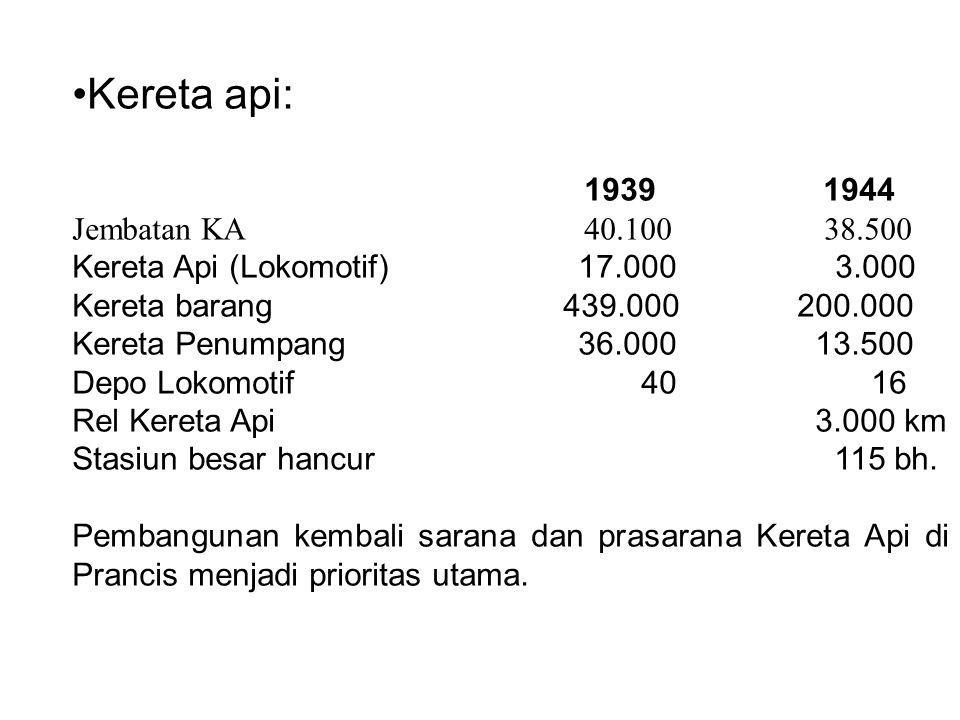 Kereta api: 1939 1944 Jembatan KA 40.100 38.500