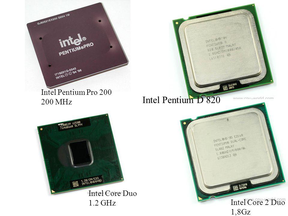 Intel Pentium D 820 Intel Pentium Pro 200 200 MHz Intel Core Duo