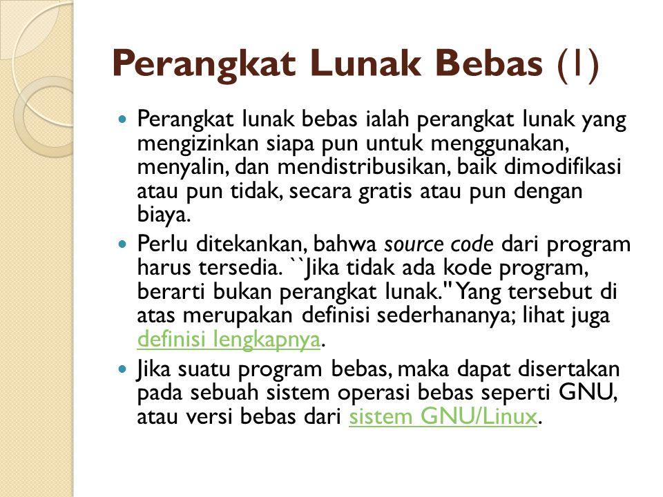 Perangkat Lunak Bebas (1)