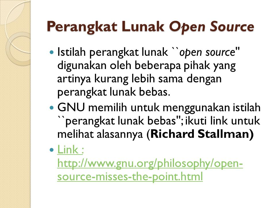 Perangkat Lunak Open Source