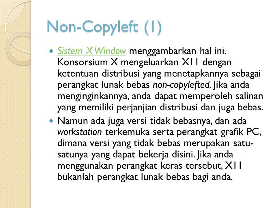 Non-Copyleft (1)