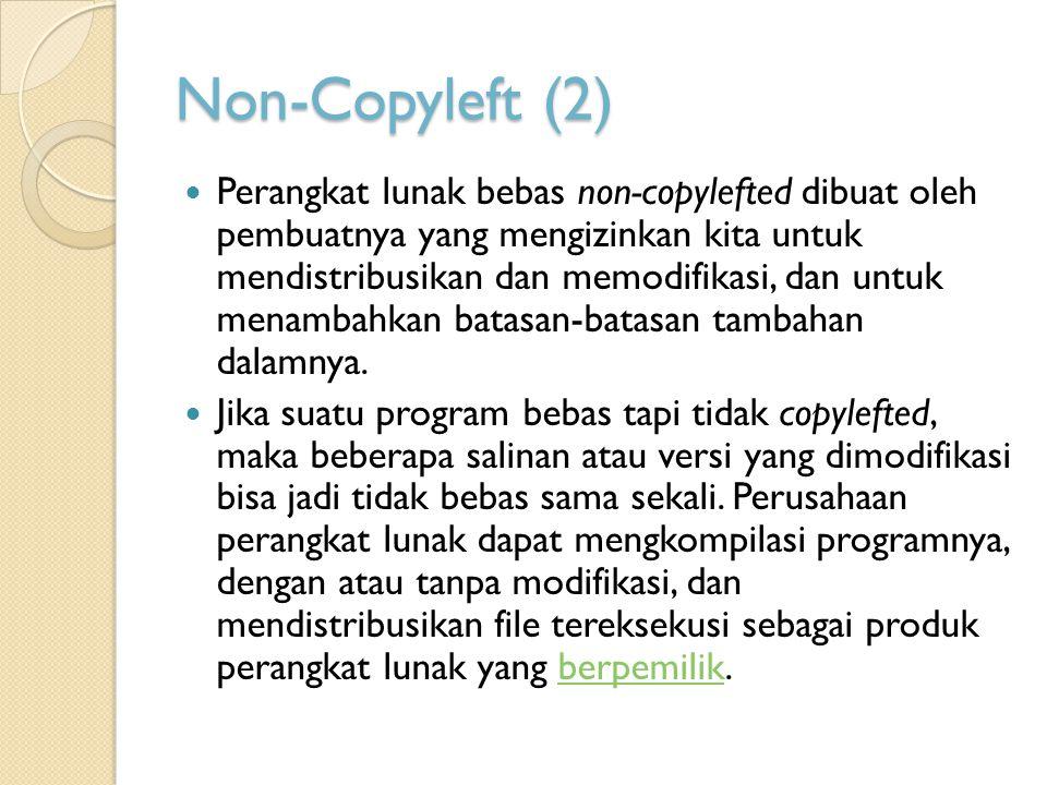 Non-Copyleft (2)