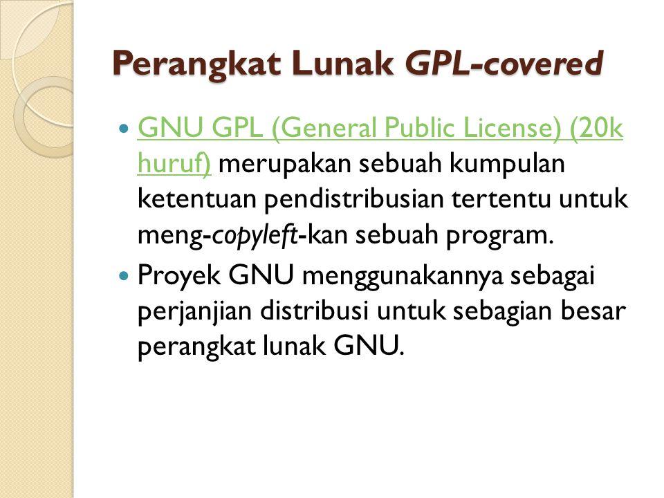 Perangkat Lunak GPL-covered