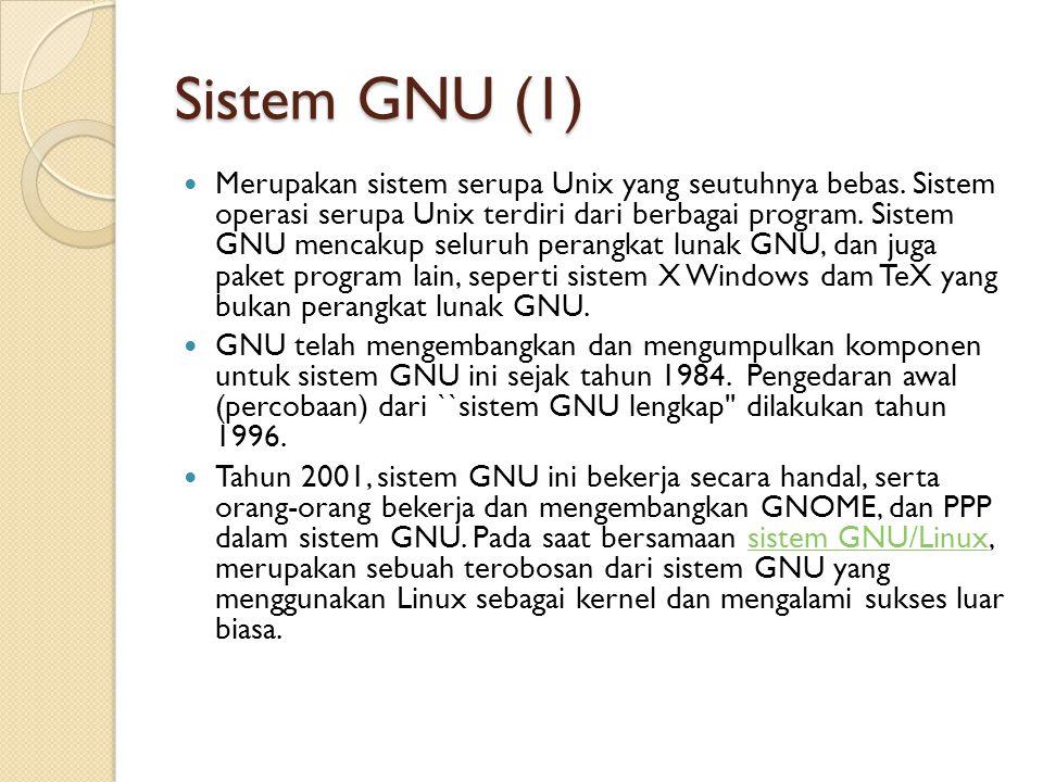 Sistem GNU (1)