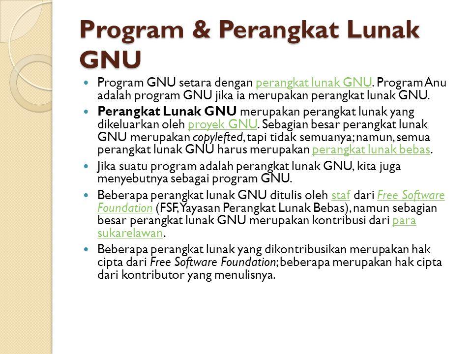 Program & Perangkat Lunak GNU