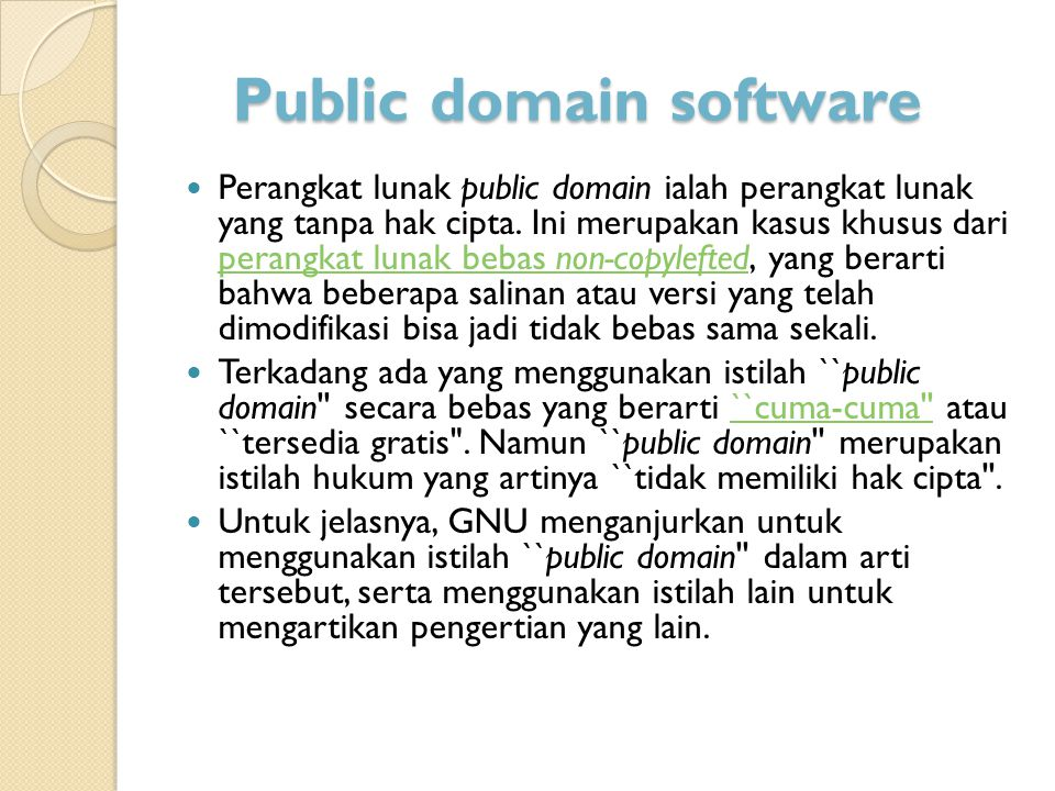 Public domain software