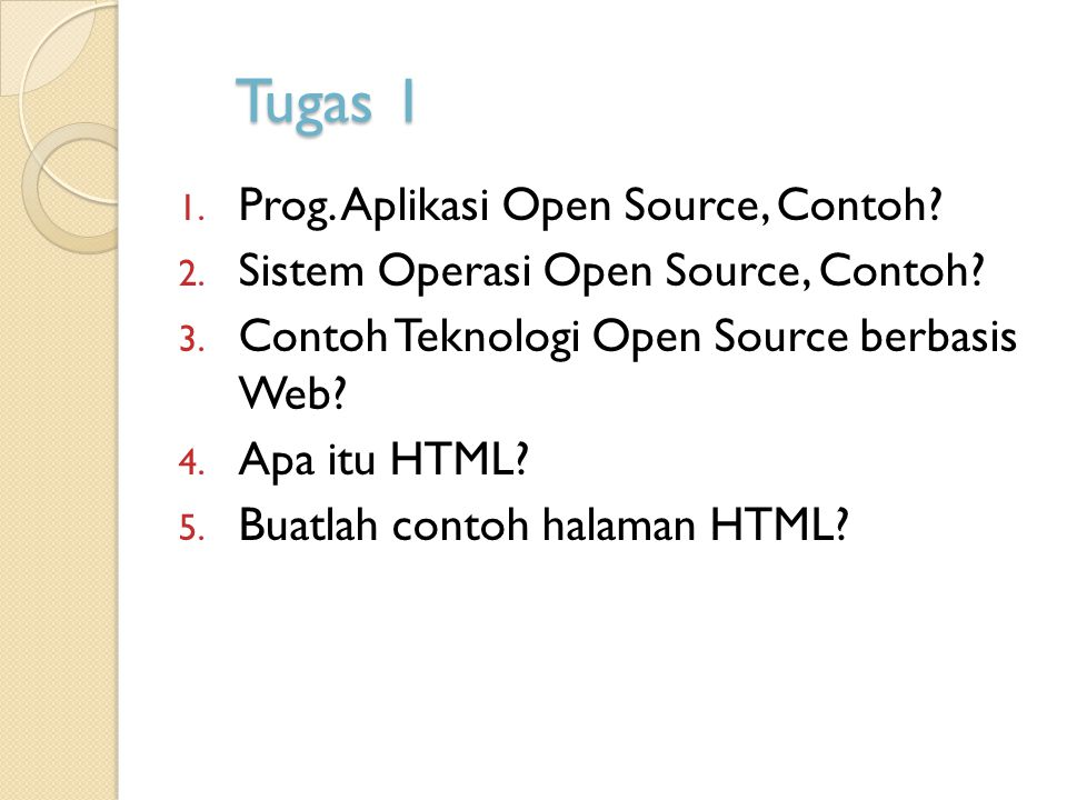 Tugas 1 Prog. Aplikasi Open Source, Contoh