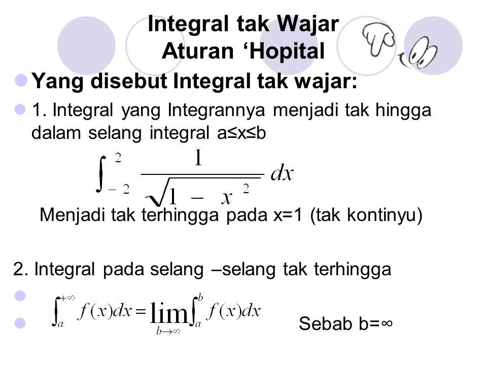 Integral tak Wajar Aturan 'Hopital