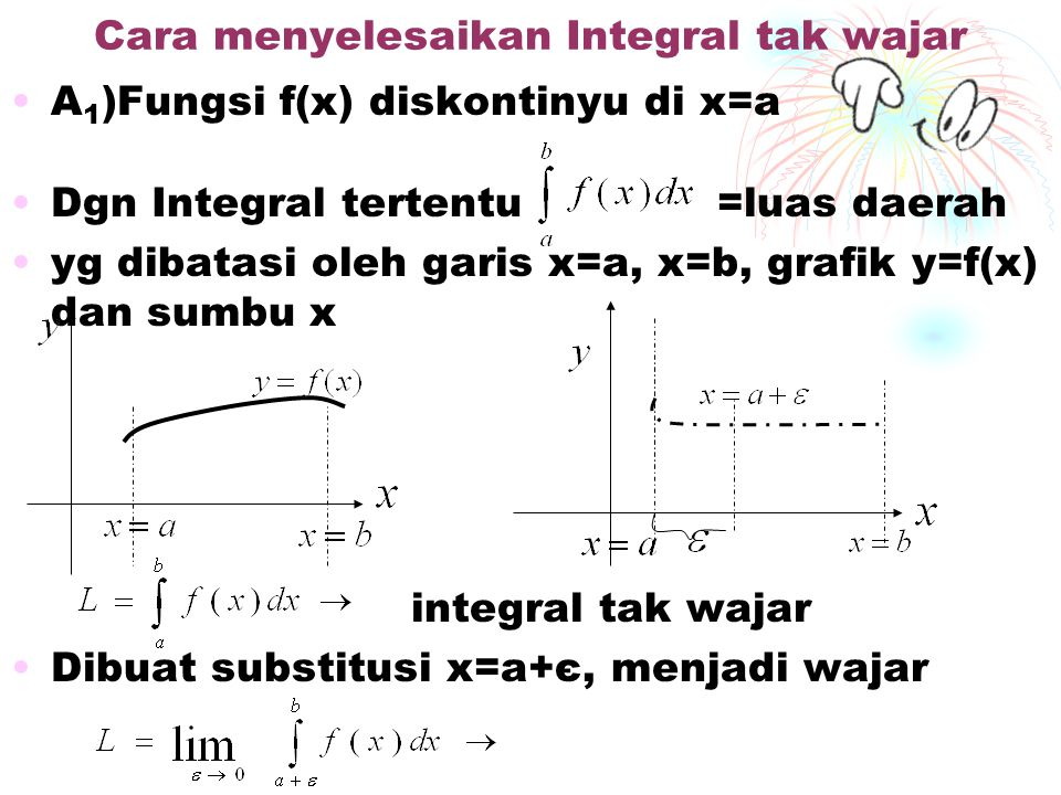 Cara menyelesaikan Integral tak wajar