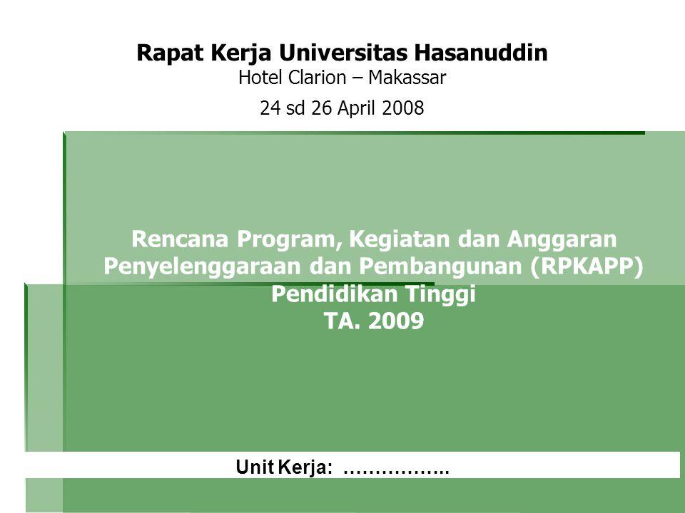 Rapat Kerja Universitas Hasanuddin