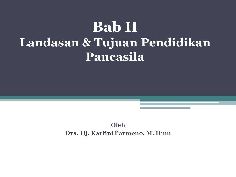 Bab II Landasan & Tujuan Pendidikan Pancasila