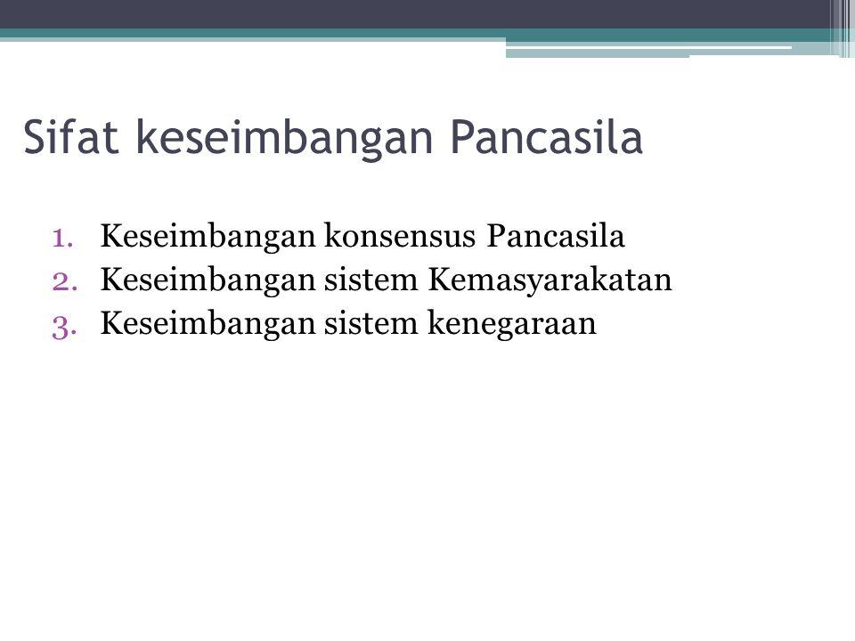 Sifat keseimbangan Pancasila