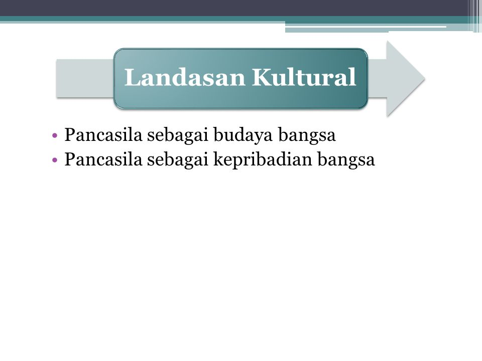 Landasan Kultural Pancasila sebagai budaya bangsa