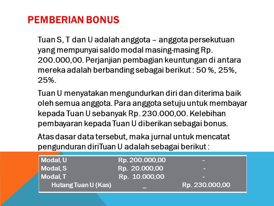 Pemberian Bonus