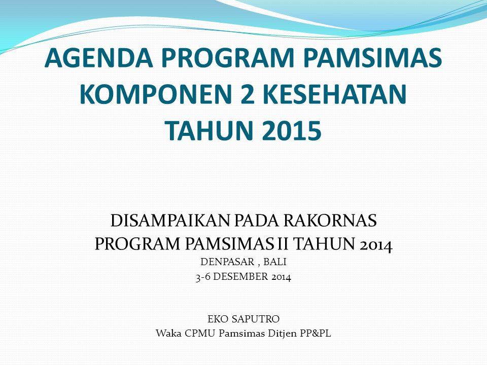 AGENDA PROGRAM PAMSIMAS KOMPONEN 2 KESEHATAN TAHUN 2015