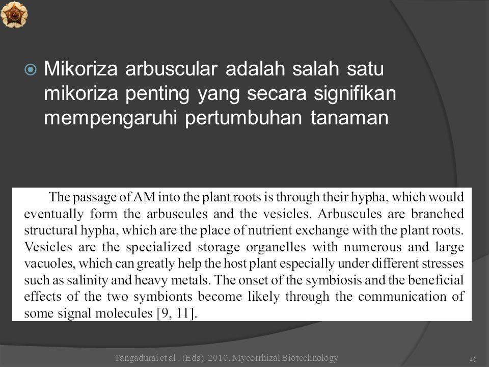 Tangadurai et al . (Eds). 2010. Mycorrhizal Biotechnology