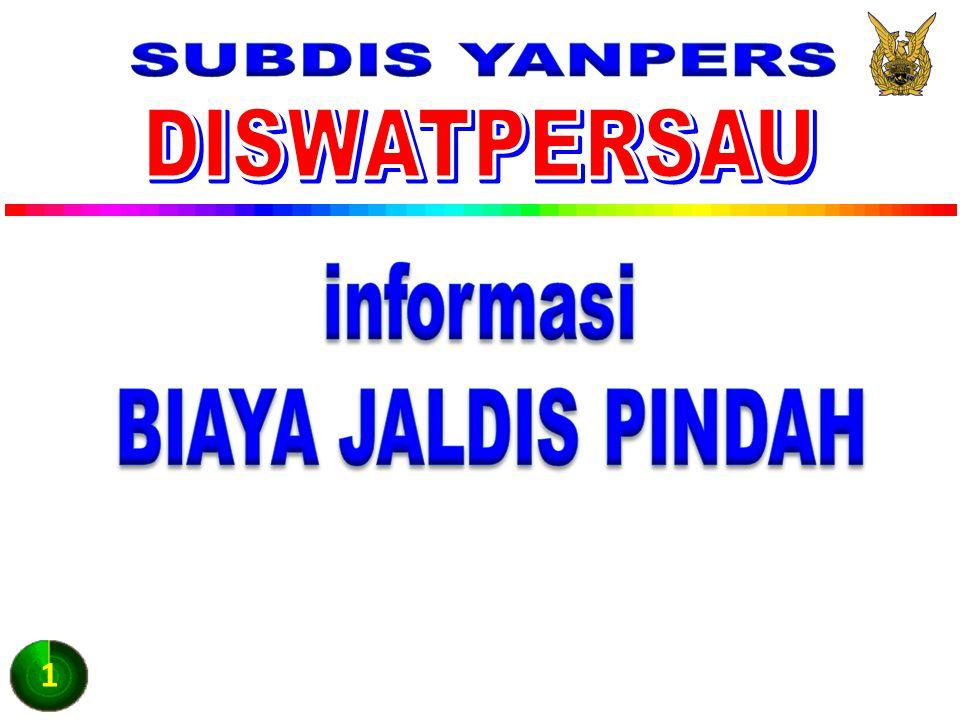 SUBDIS YANPERS DISWATPERSAU informasi BIAYA JALDIS PINDAH 1