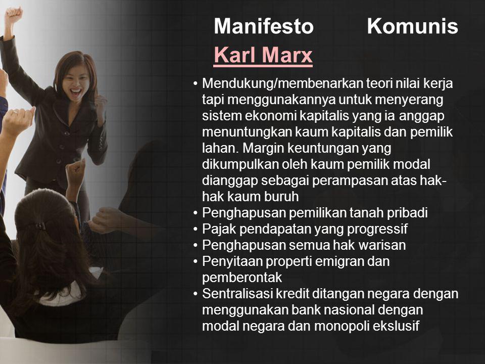 Manifesto Komunis Karl Marx