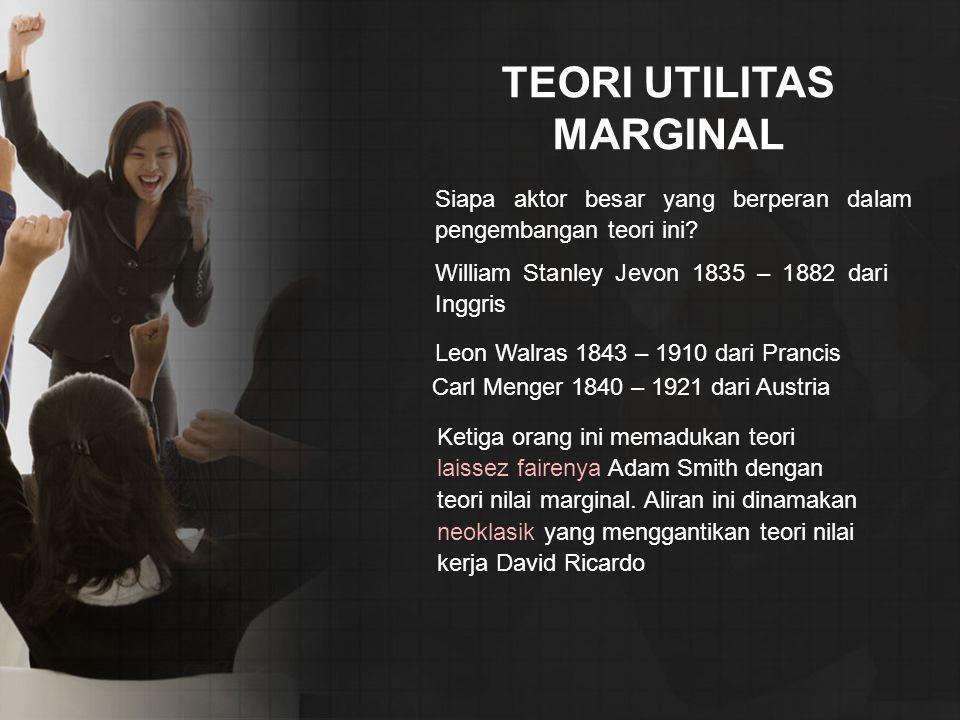 TEORI UTILITAS MARGINAL
