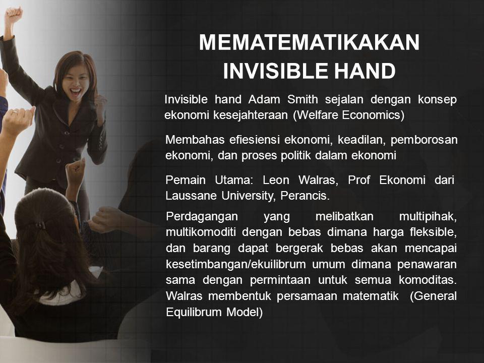 MEMATEMATIKAKAN INVISIBLE HAND