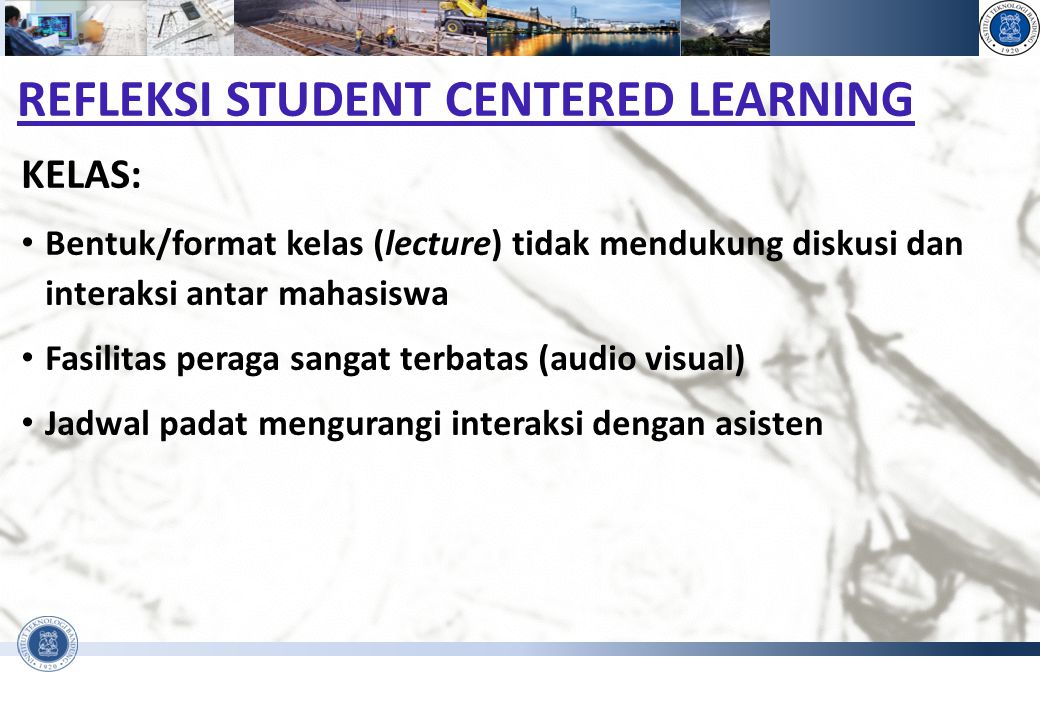 REFLEKSI STUDENT CENTERED LEARNING