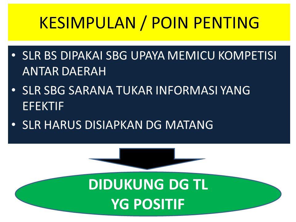 KESIMPULAN / POIN PENTING