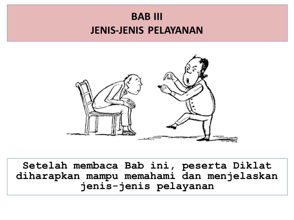 BAB III JENIS-JENIS PELAYANAN