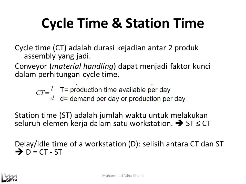 Cycle Time & Station Time