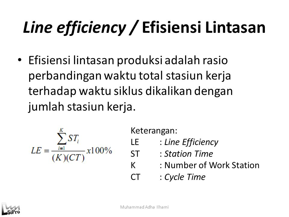 Line efficiency / Efisiensi Lintasan