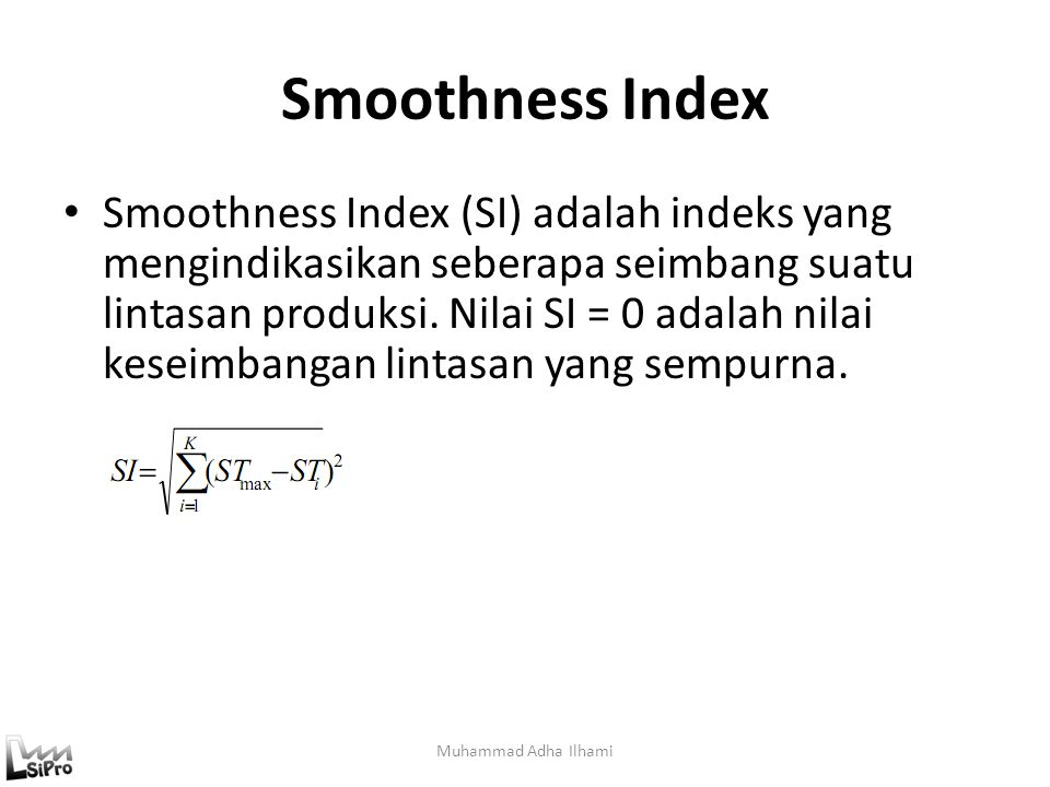 Smoothness Index