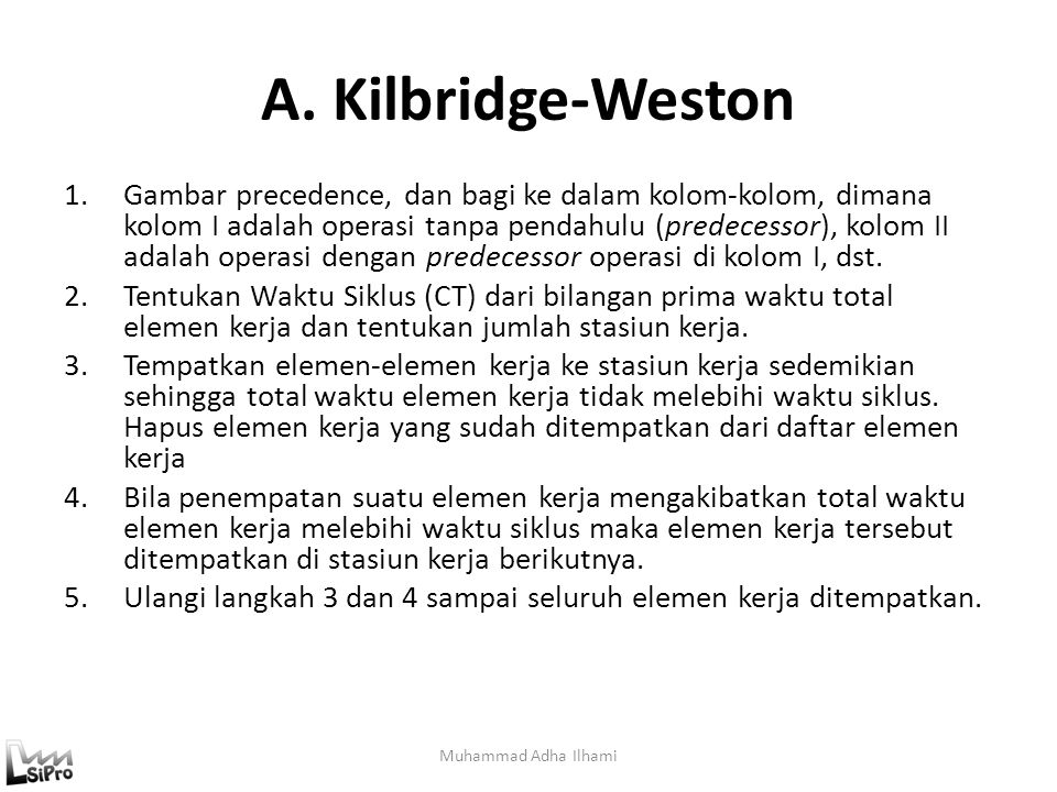 A. Kilbridge-Weston