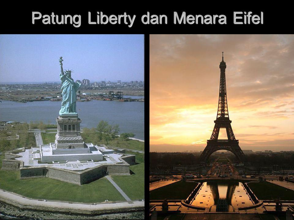 Patung Liberty dan Menara Eifel