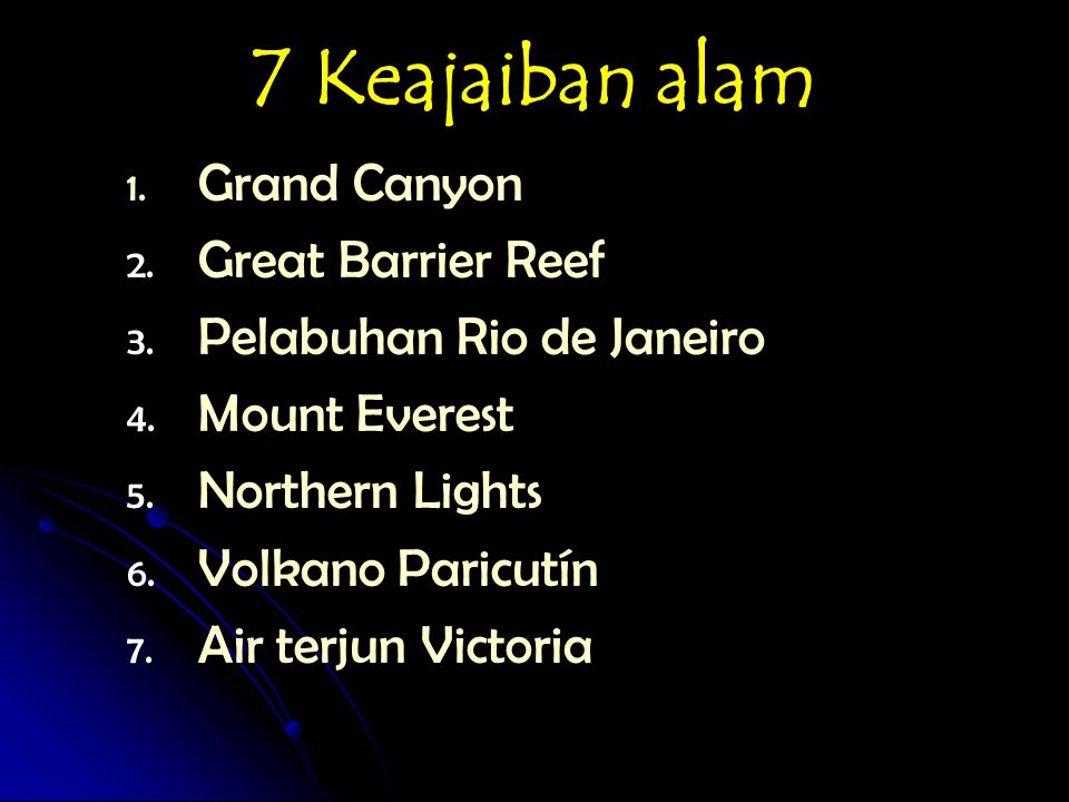 7 Keajaiban alam Grand Canyon Great Barrier Reef